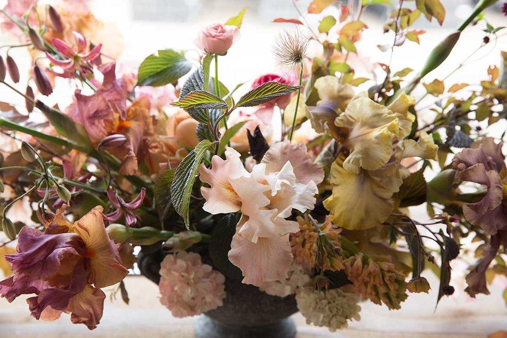 large scale summer vase arrangement by vervain