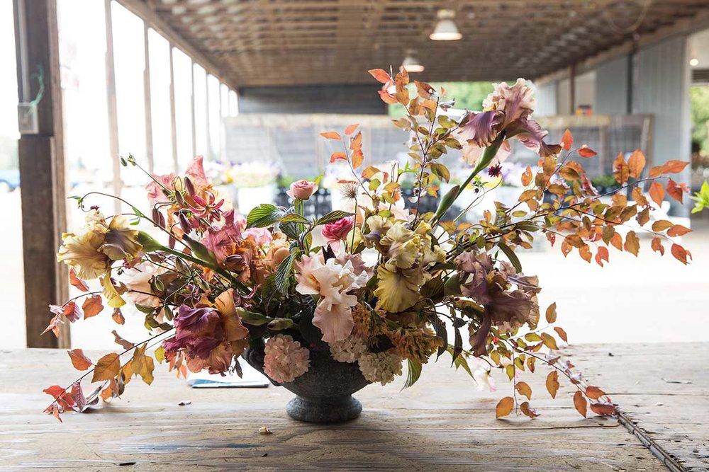 unique summer large scale vase arrangement by vervain