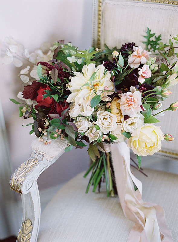Bridal bouquet by Vervain at St Giles House Dorset