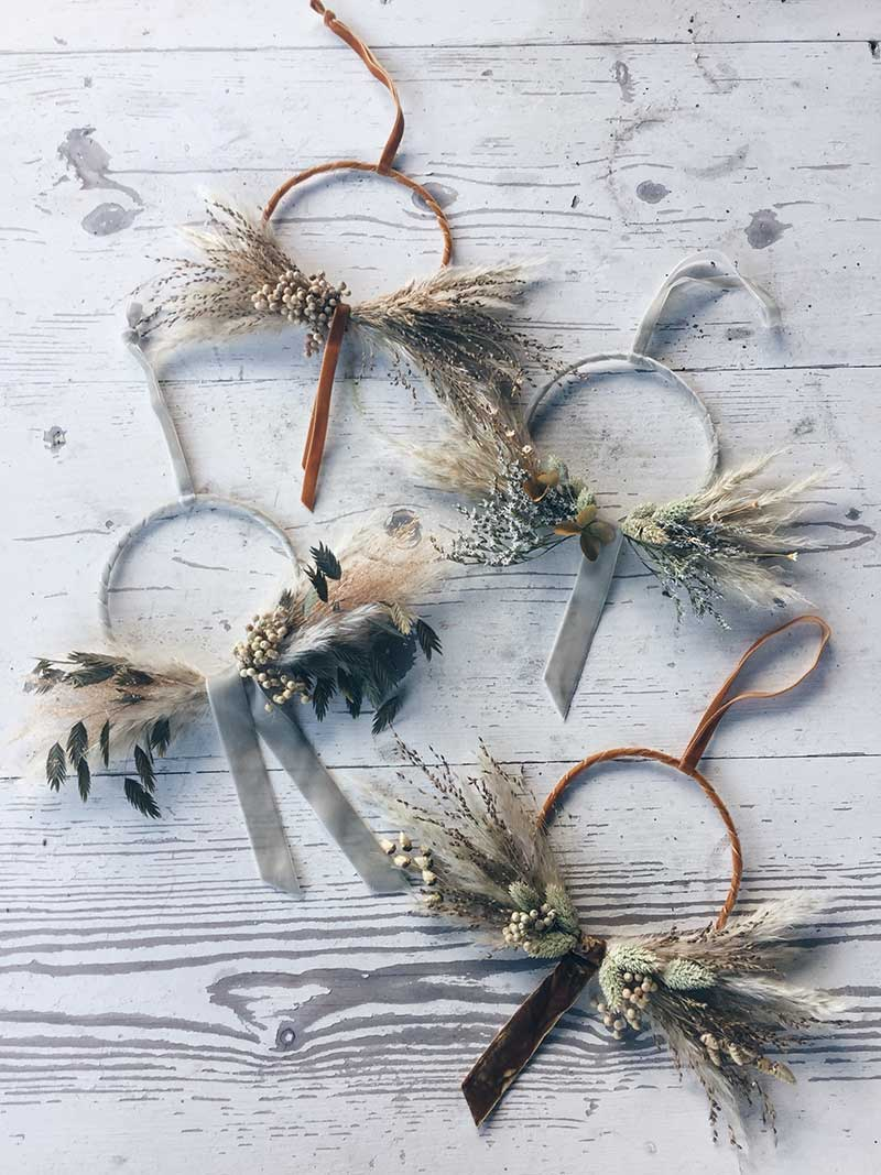 vervain December 2018 mini velvet wreath classes