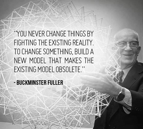 "Richard Buckminster ""Bucky"" Fuller was an American architect, systems theorist, author, designer, and inventor. Fuller published more than 30 books, coining or popularizing terms such as ""Spaceship Earth"", ephemeralization, and synergetic. He also developed numerous inventions, mainly architectural designs, and popularized the widely known geodesic dome. Carbon molecules known as fullerenes were later named by scientists for their structural and mathematical resemblance to geodesic spheres. source."