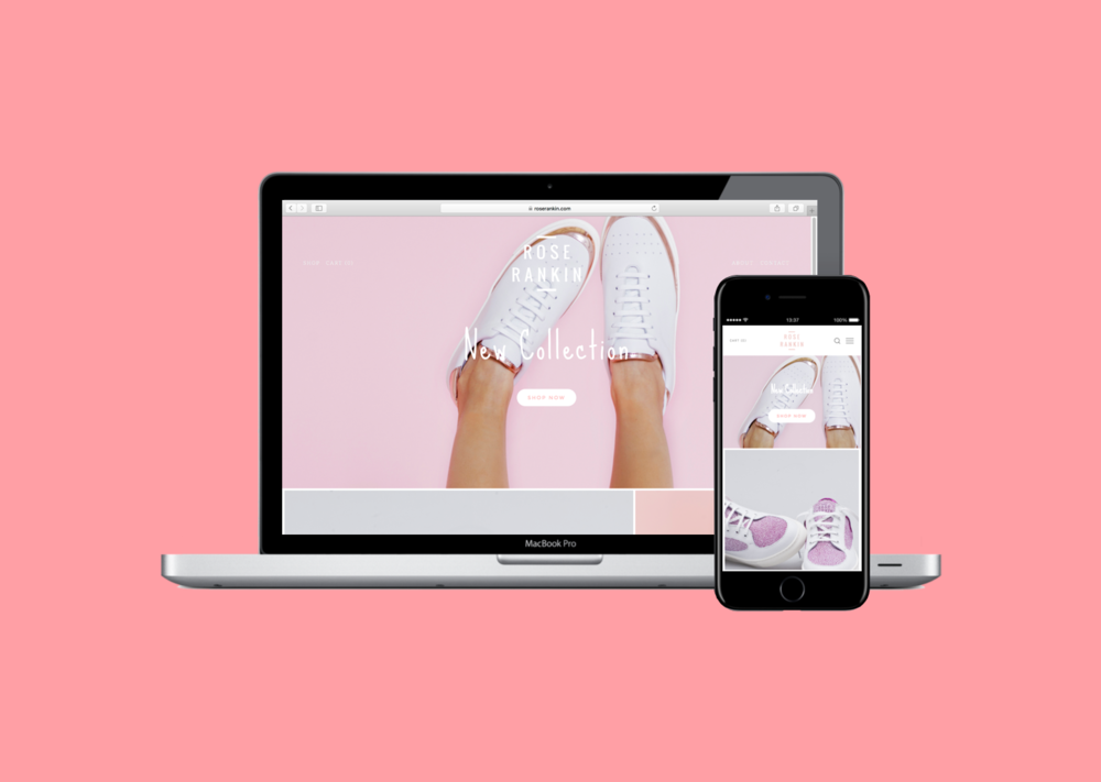 Your Online Store for $800 - Landon based sneaker brand Rose Rankin needed better control over its e-commerce and a brand new look!Check out www.roserankin.com