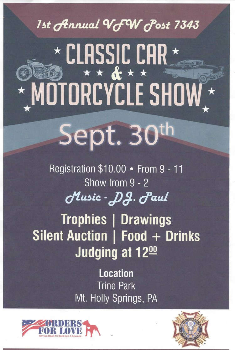 VFW Post 7343 Classic Car and Motorcycle Show — Orders For Love