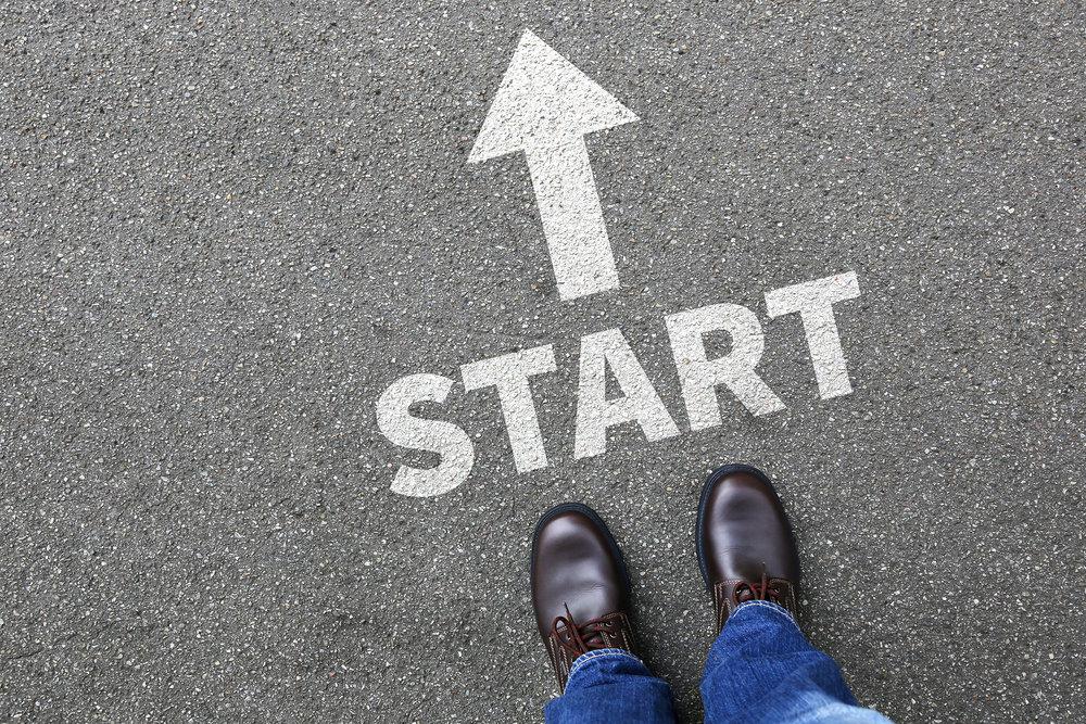 Start Starting Begin Beginning Businessman Business Man Concept