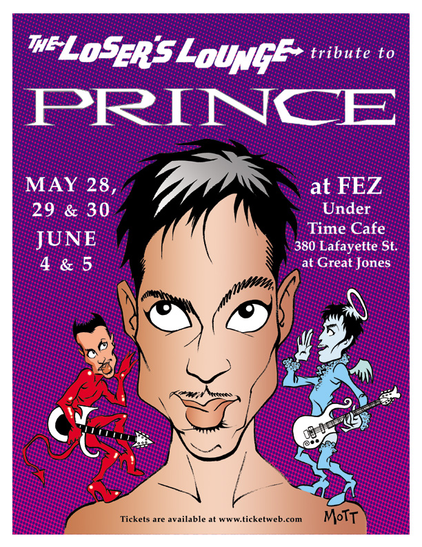 Prince -artwork by Cliff Mott