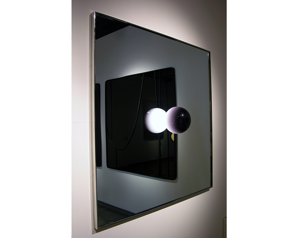 LIGHTED MIRROR - ONE LIGHT, 2015 glass/metal 42 1/2 x 42 1/2 x 8 1/2 in. 402-0003