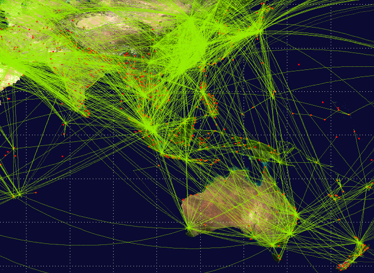 Asia Pacific General Aviation Flight Paths