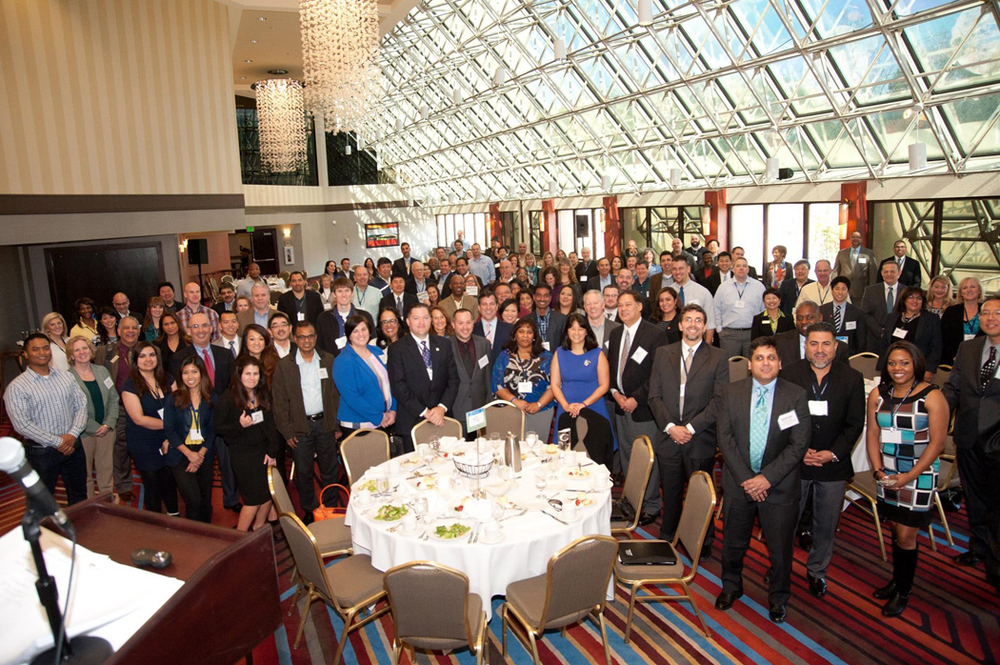 A group picture of the luncheon crowd at the Business Conference & Opportunity Fair