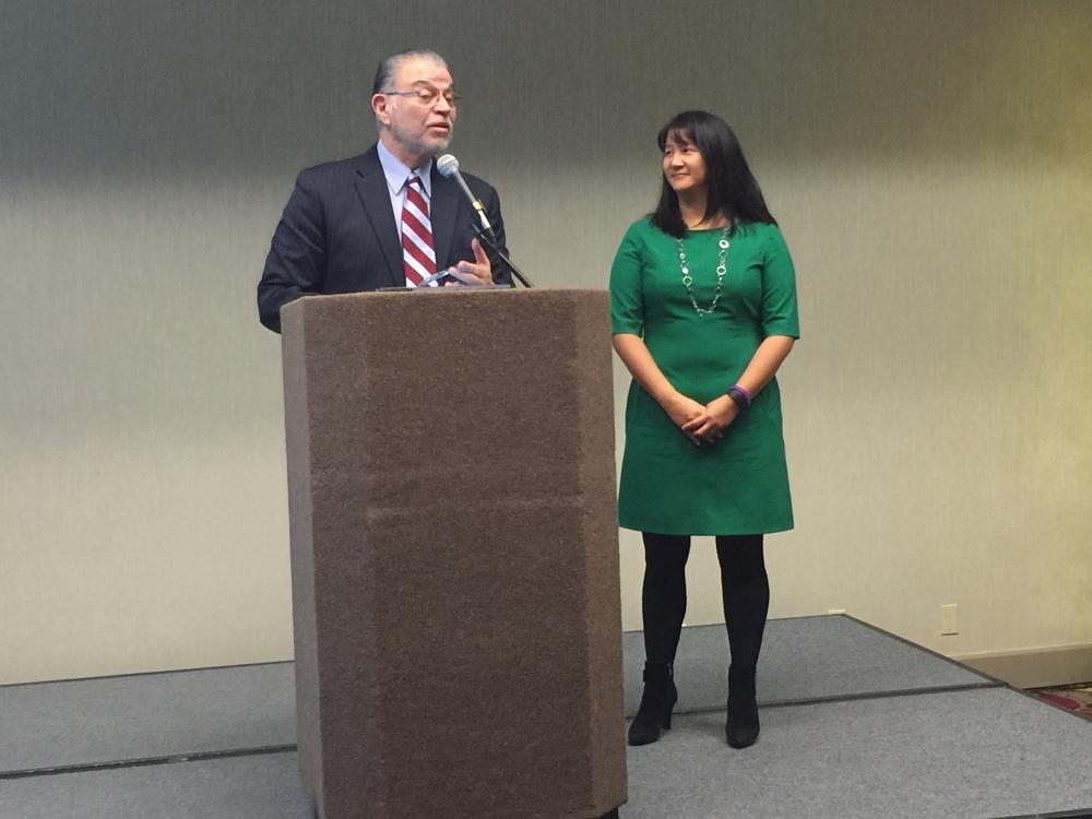 President & CEO Fernando Martinez with Board Chair Diane Lin