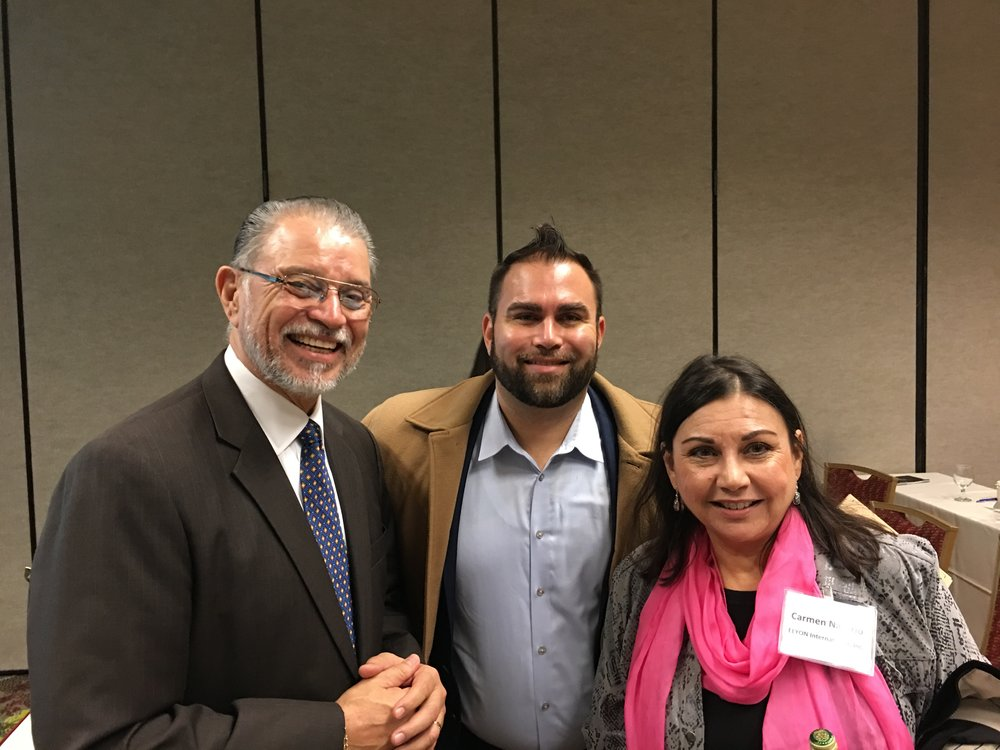 Fernando Martinez of Northwest Mountain MSDC with Josh Sisco and Carmen Nazario of Elyon International at Northwest Mountain MSDC 2016 MBE Meeting