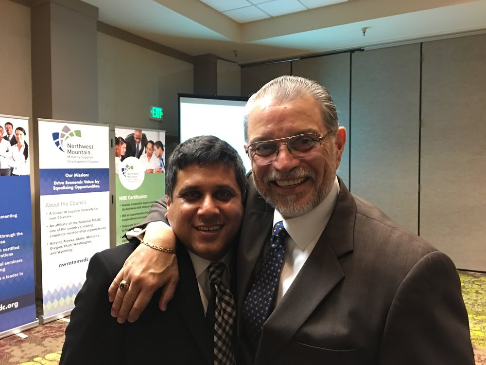 Shahzad Q. Qadri and Fernando Martinez at Northwest Mountain MSDC 2016 MBE Meeting
