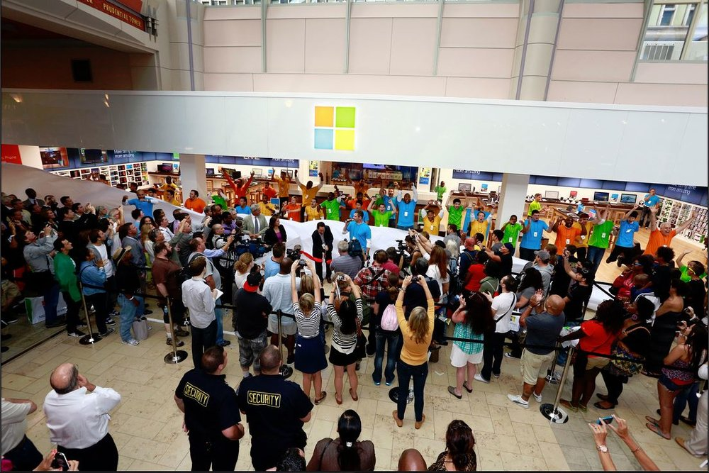 Microsoft Store Grand Opening
