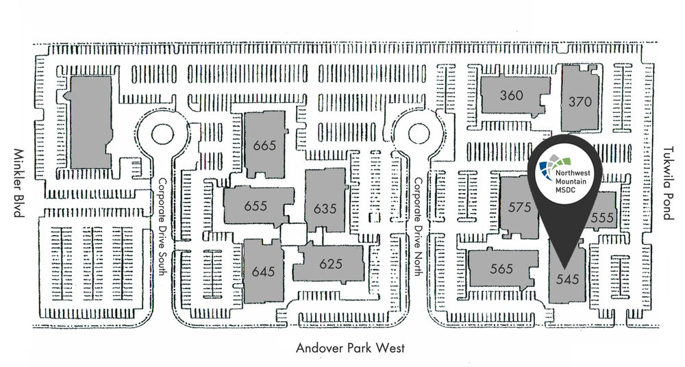 Northwest Mountain MSDC, 545 Andover Park West, Bldg. 1, Ste. 109, Tukwila, WA 98188