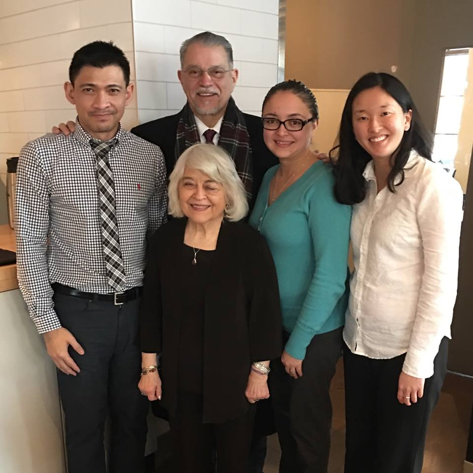 Phyllis G. Kenney (Center) flanked by Northwest Mountain MSDC staff (Left to Right: Alex Llorente, Fernando Martinez, Mayra Rivera and Sharyl Yamamoto)