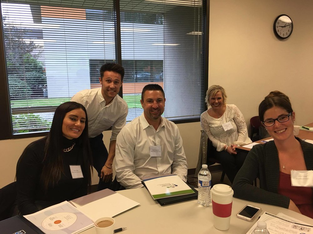 Piilani Raper (Alliance West Insurance), Andrew Prentice (nutpods), David Howerter (Alliance West Insurance), Stephanie Hurley (nutpods) and Allie Caley (Magellan Architects)