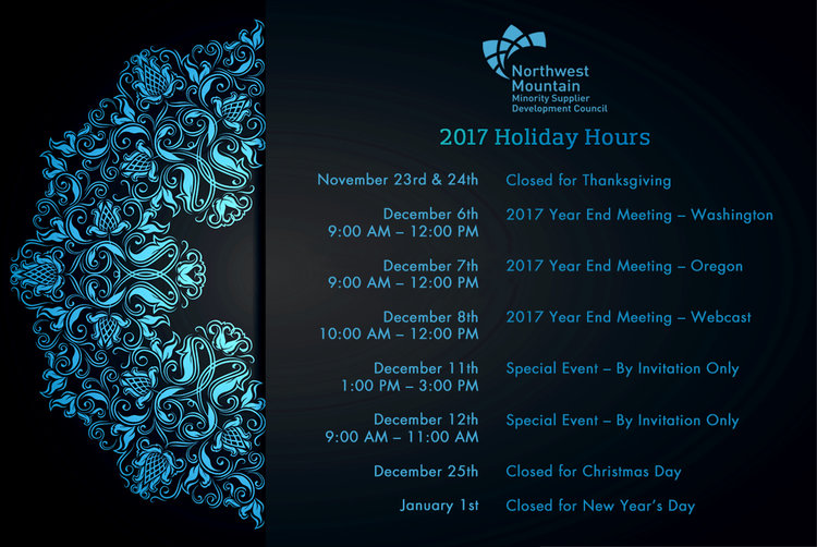 Special event by invitation only northwest mountain msdc 2017 holiday schedule fullg stopboris Choice Image