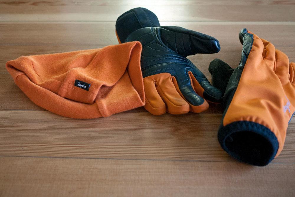 Rapha Merino Hat and Winter Gloves