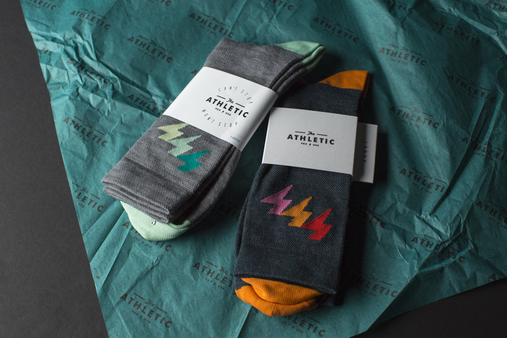THE ATHLETIC - THREE BOLT WOOL SOCKS - $20