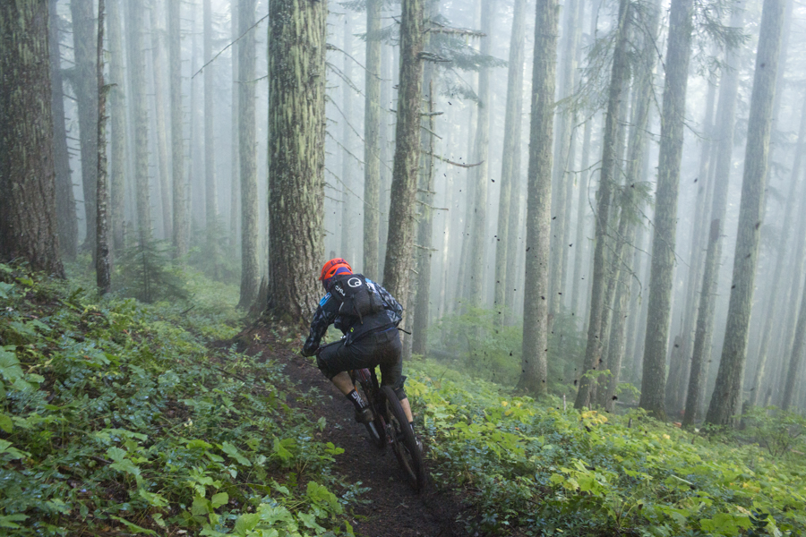 Chris Johnson ripping down it in late September at Trans Cascadia