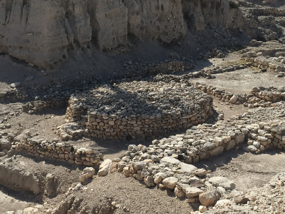 An early Canaanite high place used for offering sacrifices.