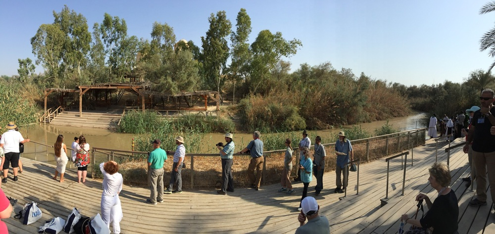 Panorama of the traditional site of Jesus' baptism.