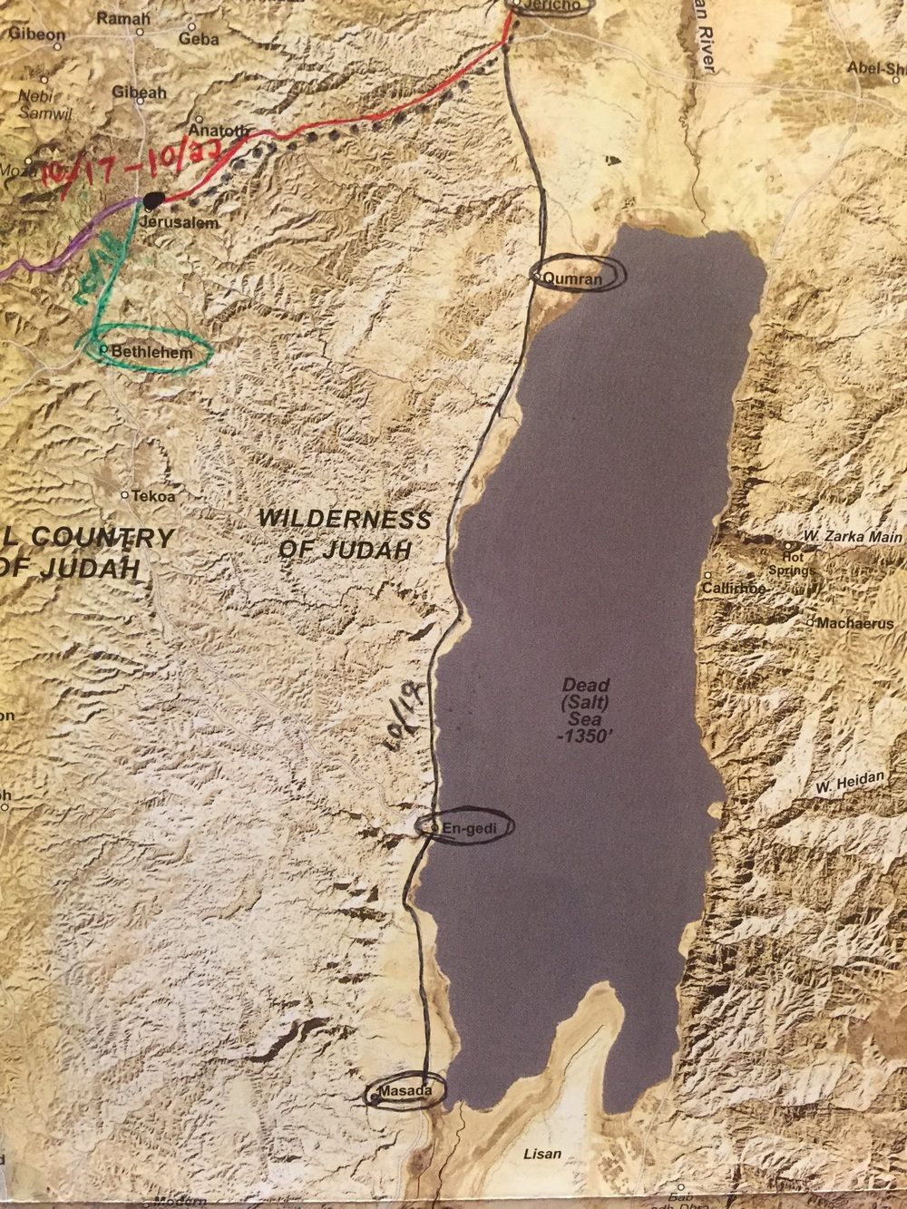 Today we traveled the western side of of the Dead Sea.