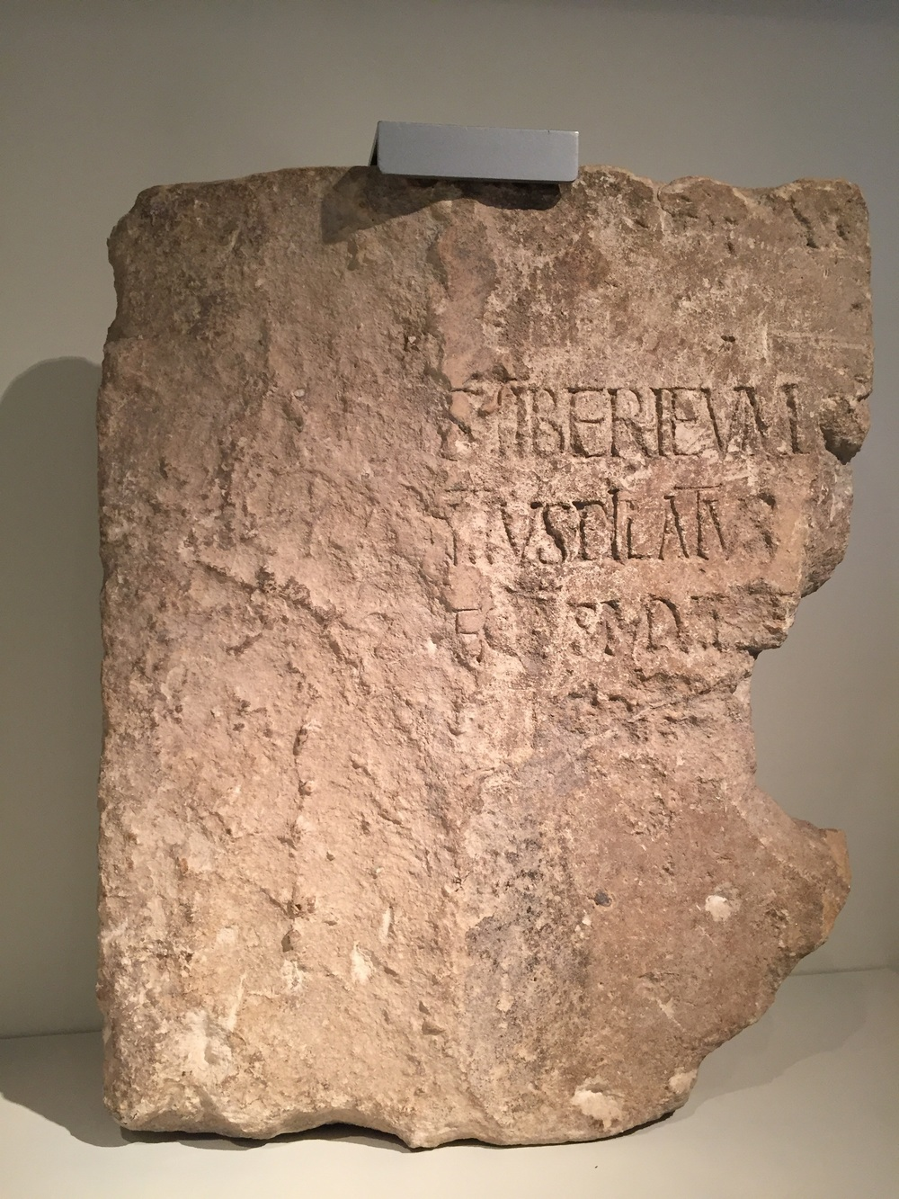 This inscription which bears the name of Pontius Pilate, was discovered at Caesarea Maritima, which we visited on  Oct. 14th .