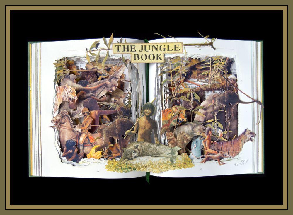 The Jungle Book - 16x20x3 Book Sculpture