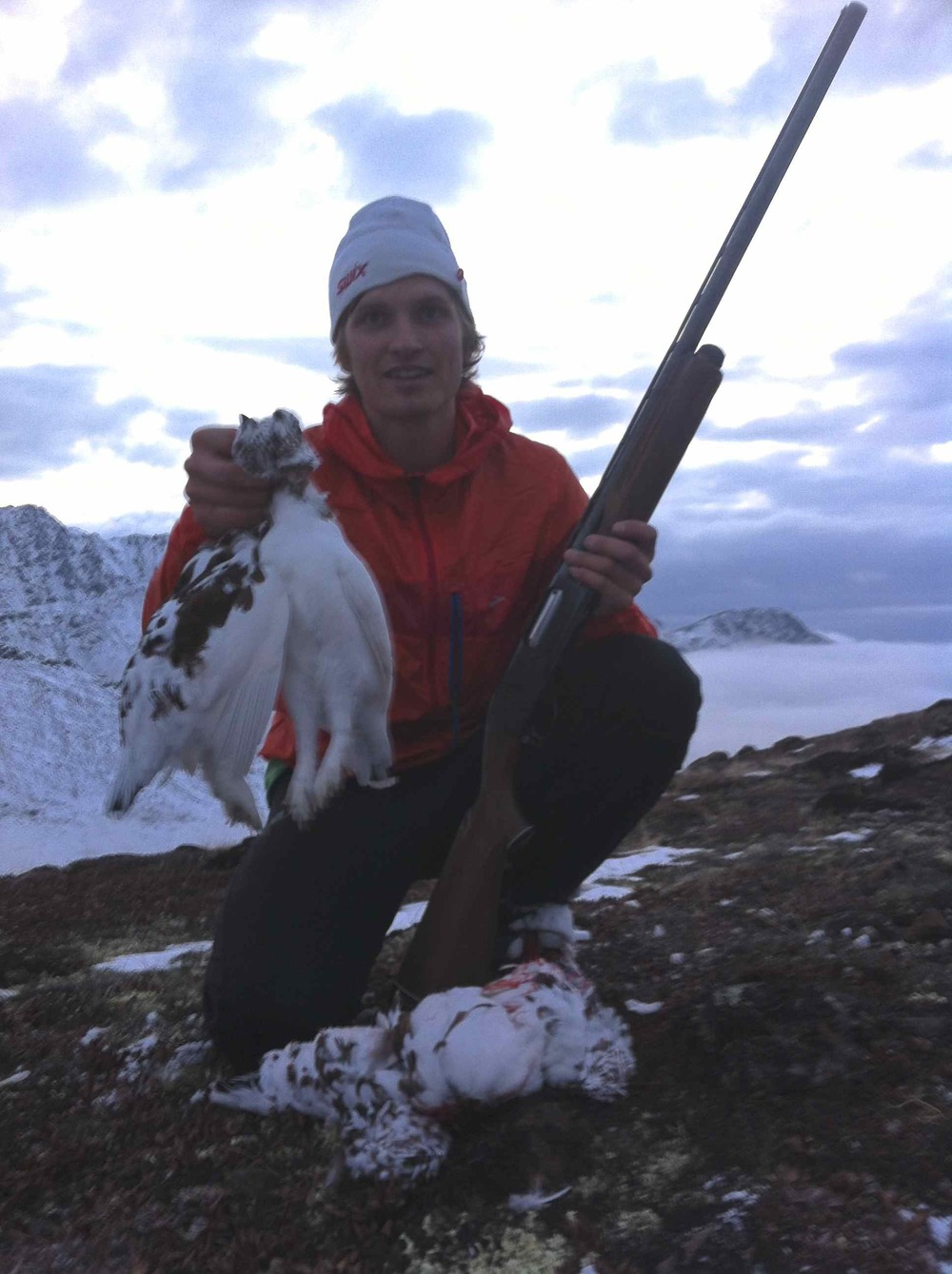 Ptarmigan Hunting outside of Anchorage with my teammates.