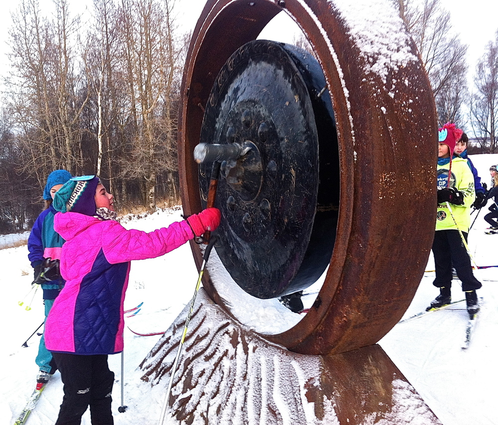 Hitting the gong!