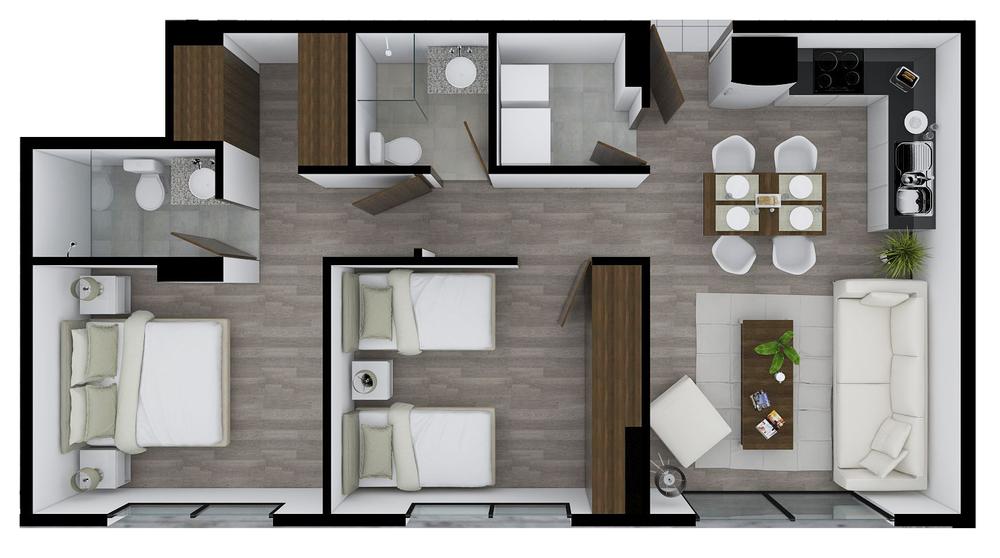 Edificio Status, 2 dormitorios