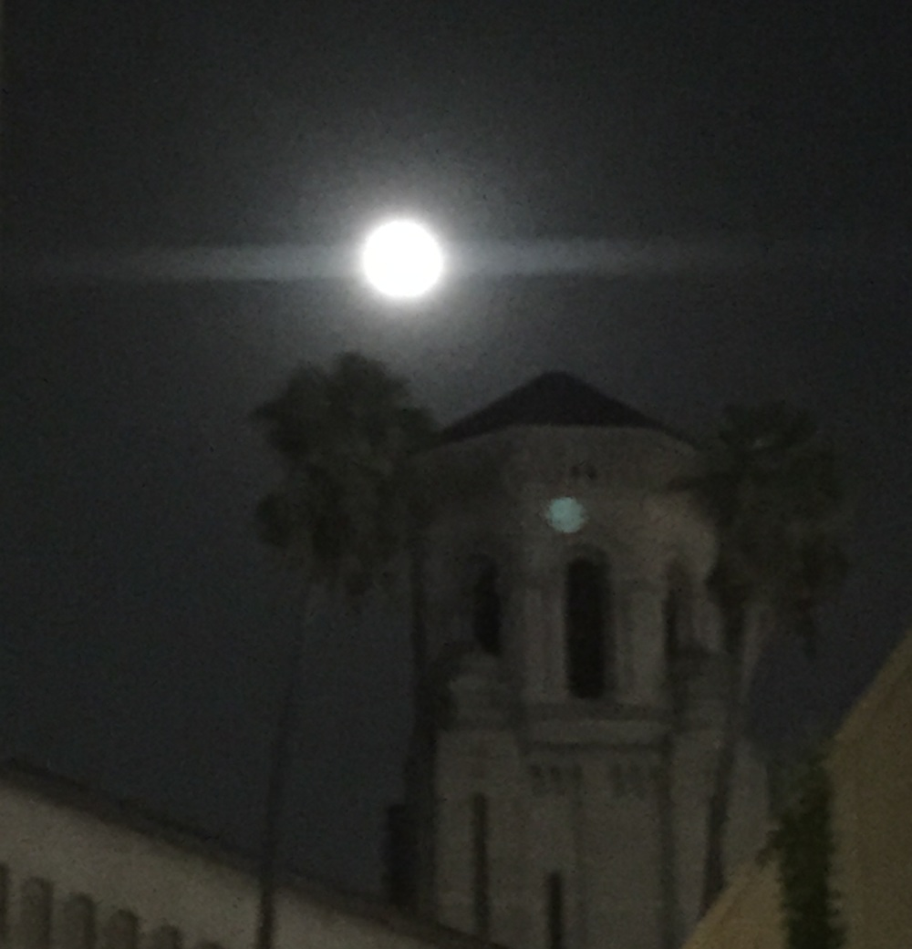 Full moon in LA - from Clare's new iPhone.