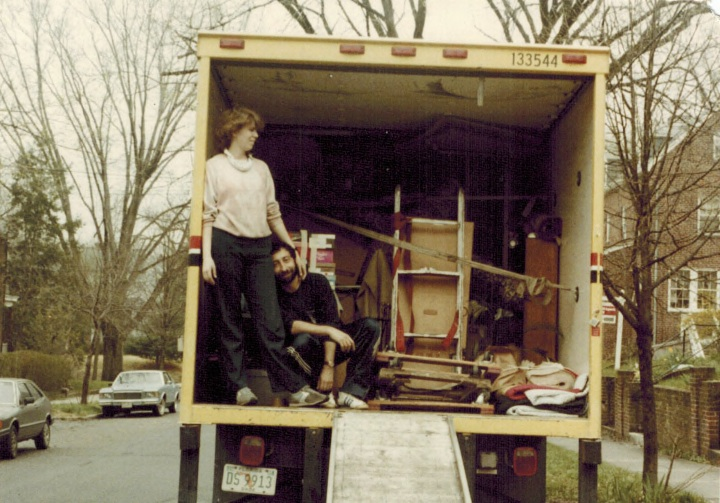 Leaving D.C. in 1984, when we moved ourselves, and called friends for help.