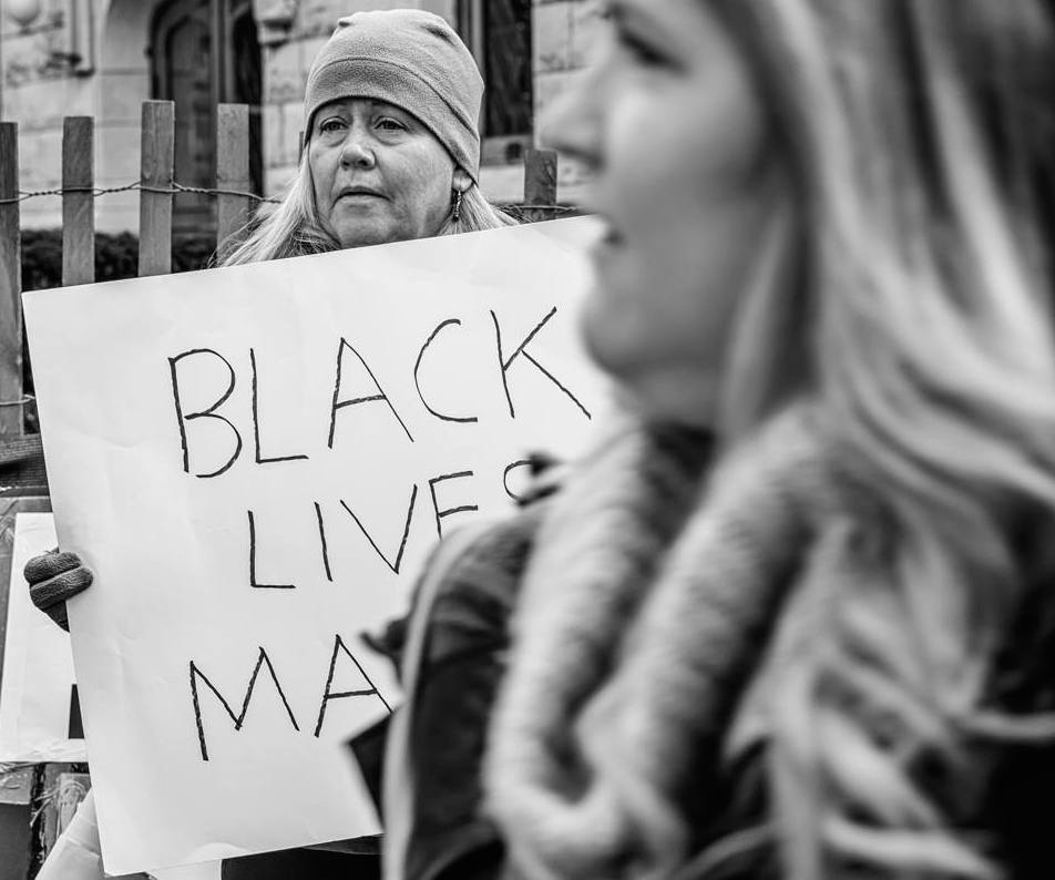 From a quieter protest in Minneapolis earlier this year, by Avi Nahum.