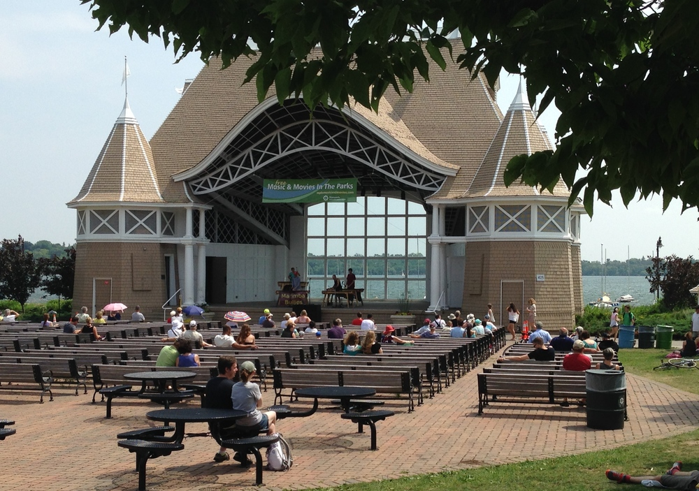 Lake Harriet Bandshell on a quiet summer afternoon.
