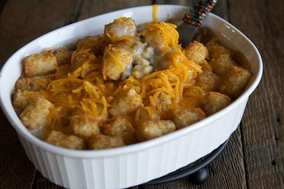 A classic Minnesota hot dish with cheese.