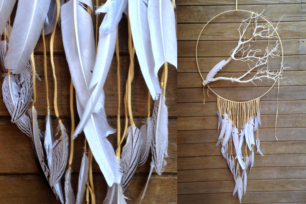 Large Natural Manzanita Dreamcatcher