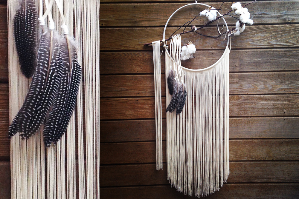 Ivory Fringe with Cotton Dreamcatcher