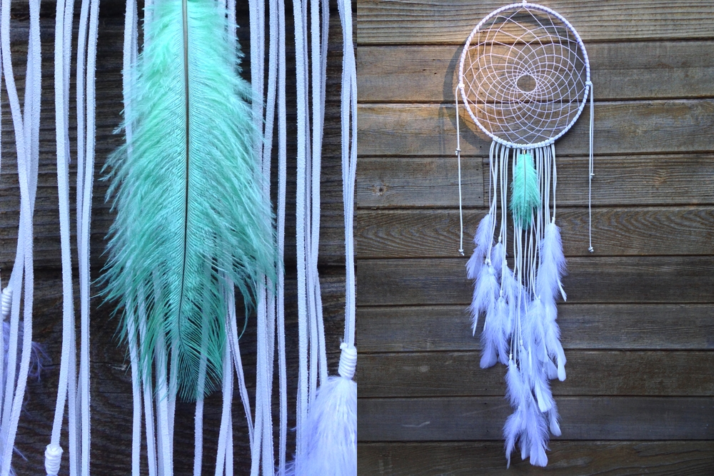 Mint Ostrich Dreamcatcher