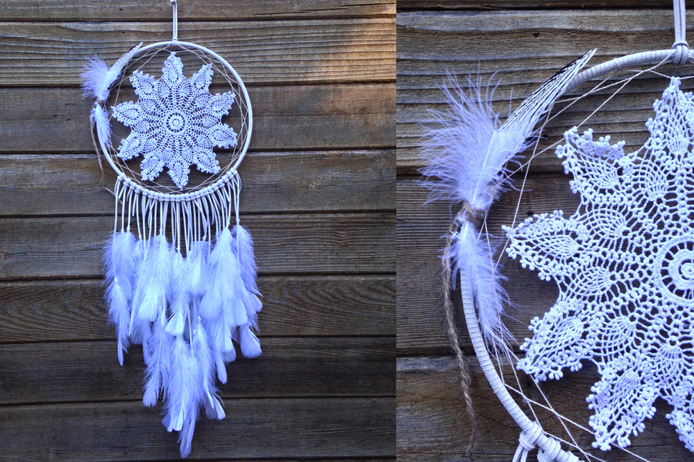 White Snowflake Dreamcatcher