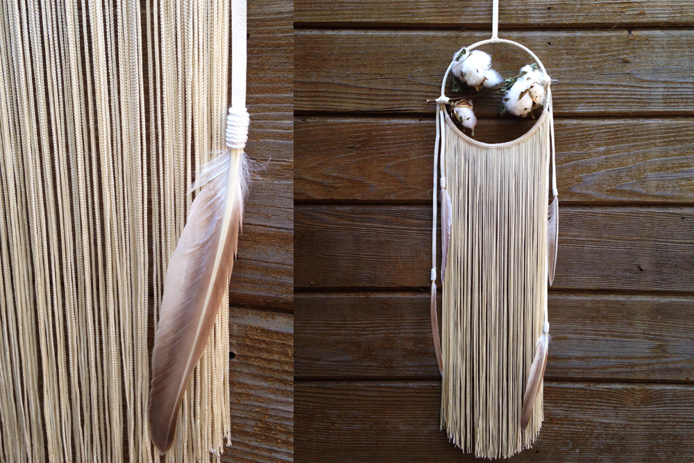 Ivory Cotton Fringe Dreamcatcher