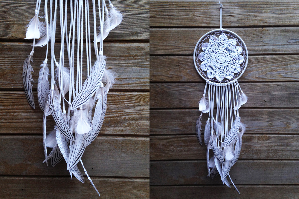 White Doily Dreamcatcher