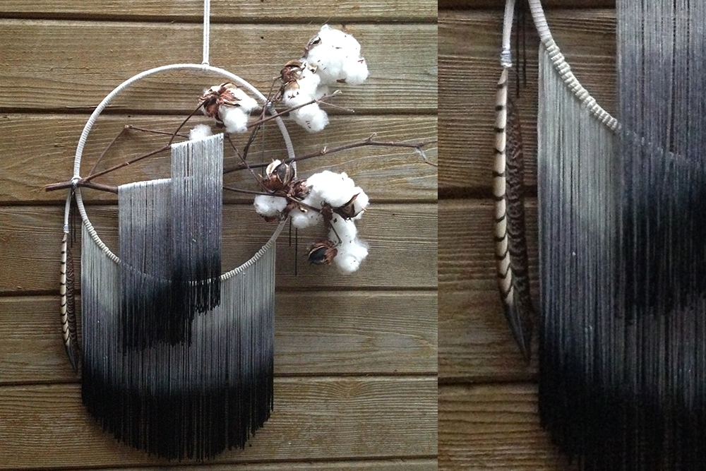 Double Ombre Cotton Fringe Dreamcatcher