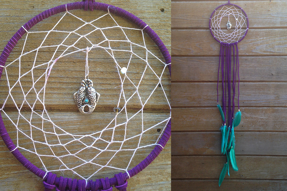 Turquoise Double Fish Dreamcatcher