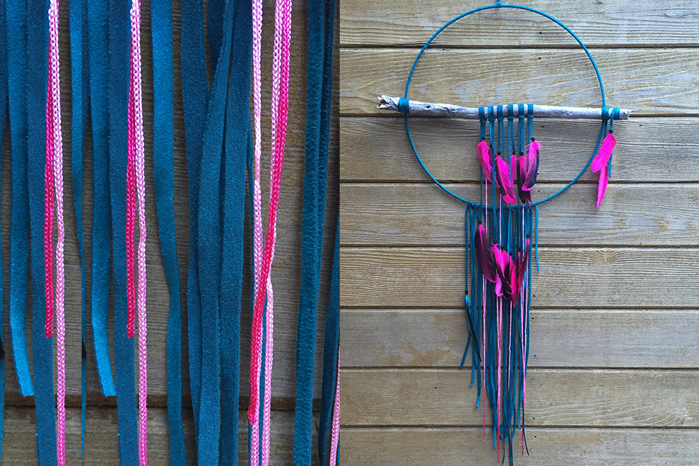 Teal and Fuchsia Dreamcatcher