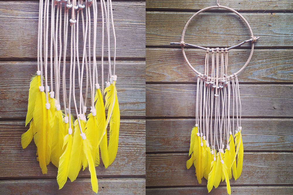 Sunshine Yellow Dreamcatcher