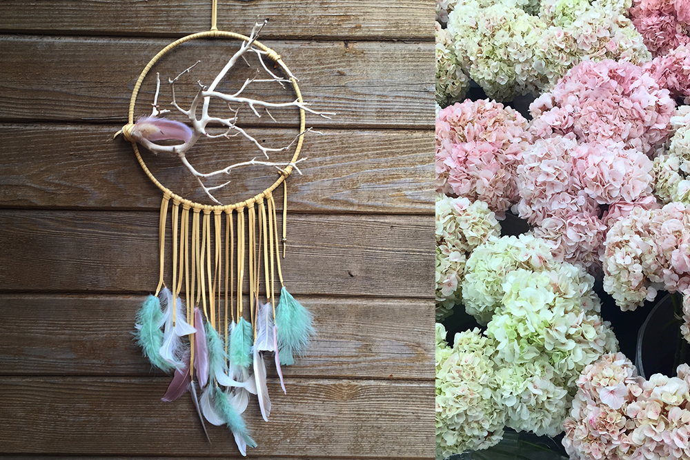 Small Pastel Manzanita Dreamcatcher