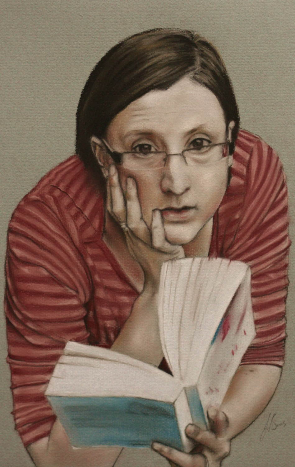 Megan - Pastel on Paper (25x42cm)