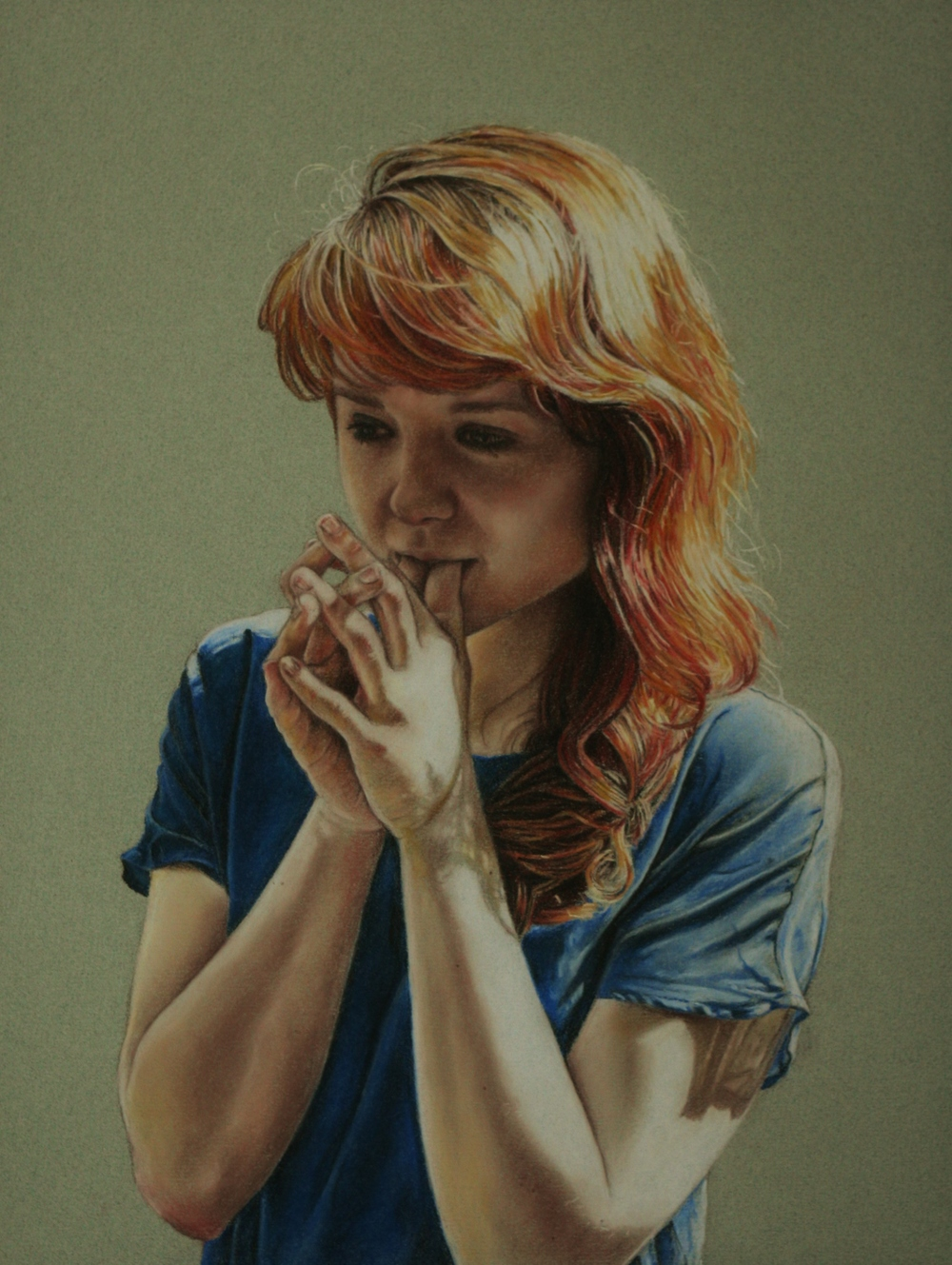 Summer Portrait - Pastel Pencil on Paper (30x42cm)