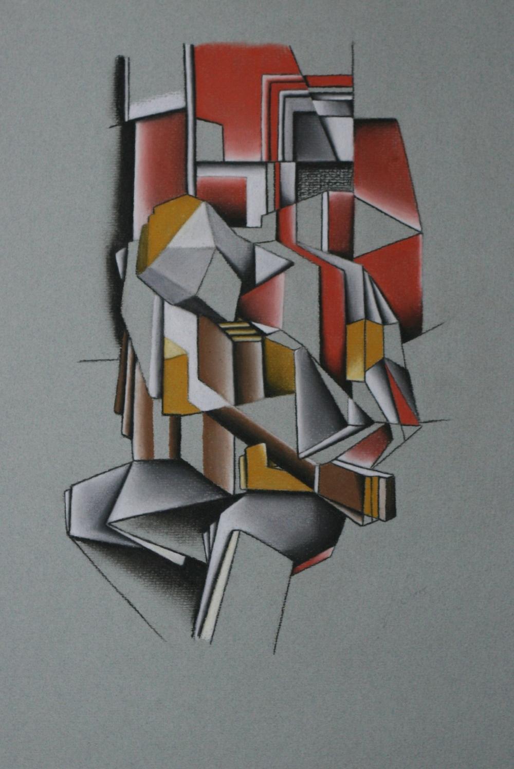 Guitarist - Pastel Pencil on paper (30x40cm)